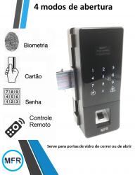 Fechadura Biométrica G176  portas de vidro com controle remoto