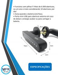 Fechadura Biométrica Compacta modelo H908