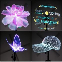 Projetor Holográfico 3D Grande 40cm 224 Leds Ideal Para Vitrine