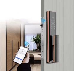 Fechadura Biométrica Digital Automatizada por WIFI com acesso remoto S912 - Red Bronze
