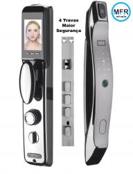 Fechadura Biométrica Digital Automatizada por WIFI com acesso remoto S919 com câmera